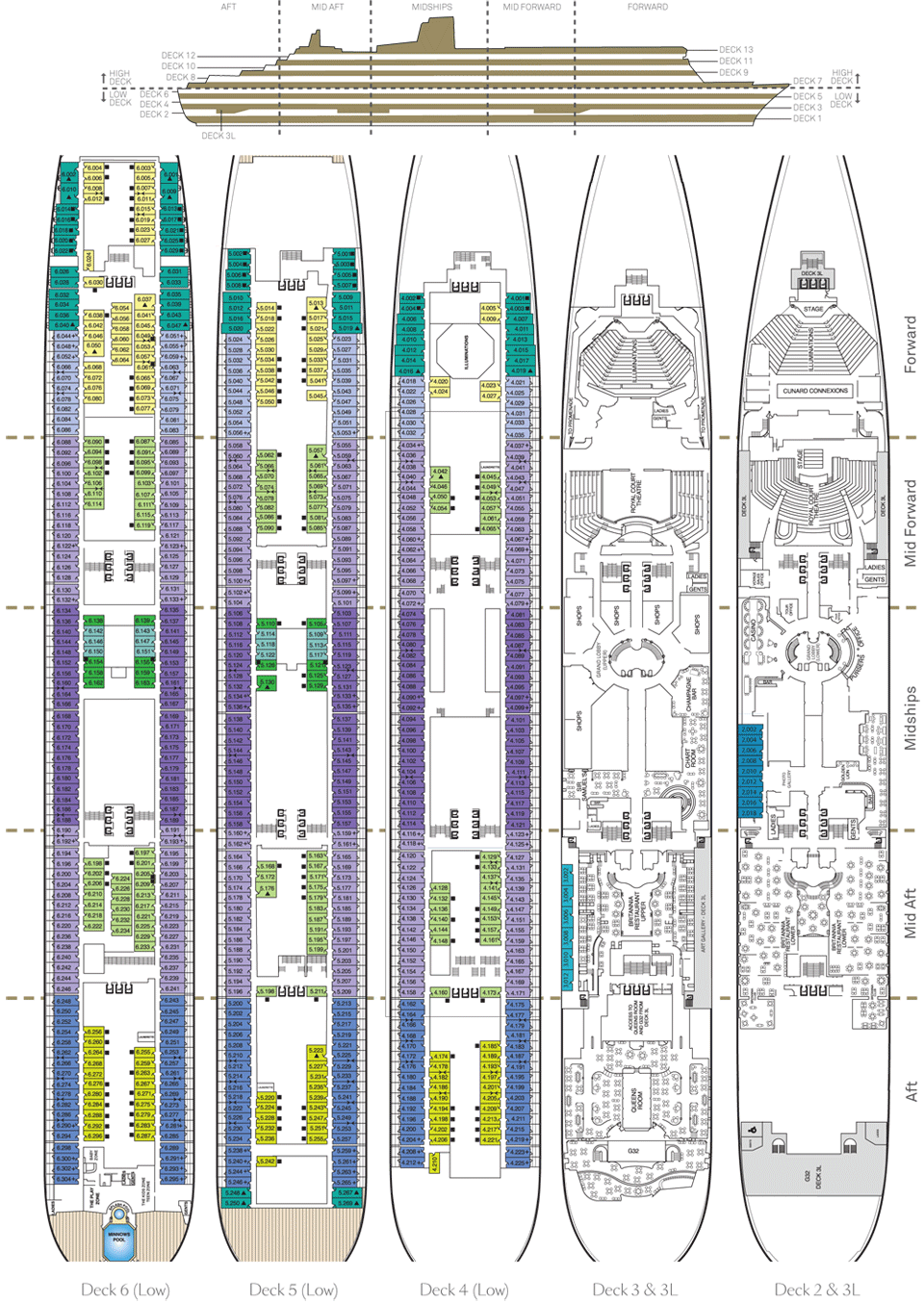 Cunard for The world deck plans
